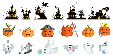 big selection for halloween. castles and monsters