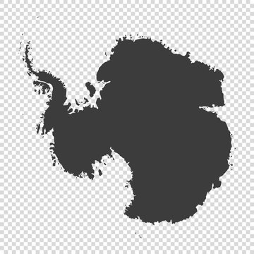 map of Antarctica on transparent background