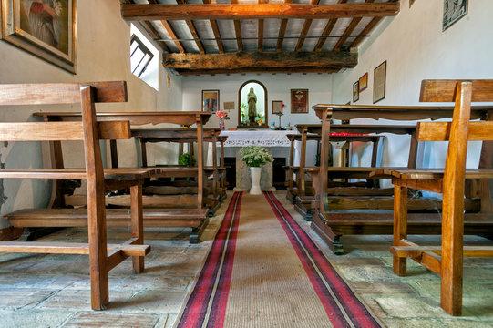 birthplace of santa maria goretti in corinaldo, marche, italy