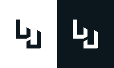 Modern abstract letter LU logo. This logo icon incorporate with two abstract shape in the creative process. Fototapete