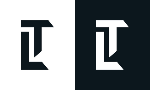 Modern abstract letter LT logo. This logo icon incorporate with two abstract shape in the creative process.