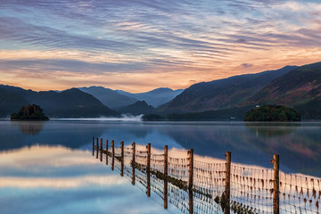 Foto auf Acrylglas Blau Jeans Keswick - Derwent Water