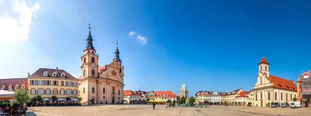 Panorama, Marktplatz, Ludwigsburg, Baden-Württemberg, Deutschland  Fototapete
