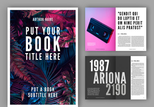 Book Layout with Bold Typographic Accents