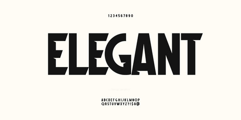 Vector elegant font trendy typography for poster, decoration, book, infographics. 10 eps