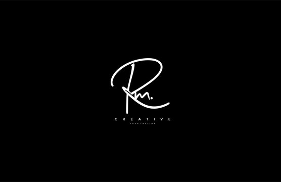 Letter Rm Logo Manual Elegant Minimalism Signature Logo Design