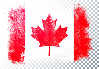 Vector Illustration Distressed Grunge Flag Of Canada