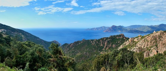 Corsica-panoramic outlook at the Calanche