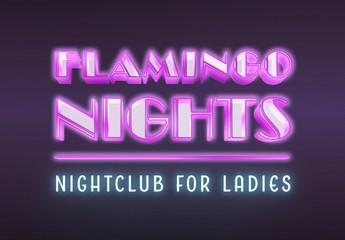Neon Nightclub Text Effect