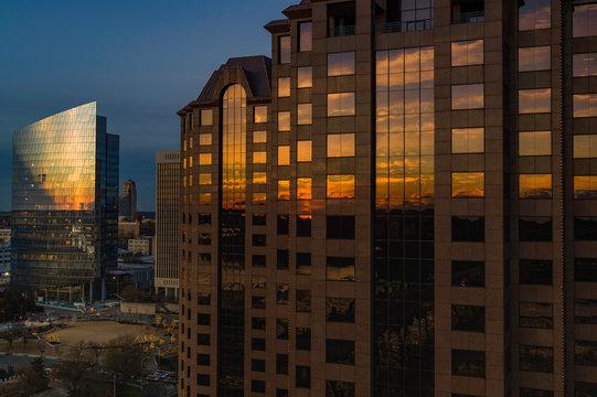 Richmond VA Downtown Skyline