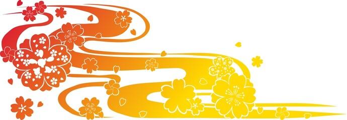 "桜 模様 和柄  Japanese pattern""Sakura""  Cherry Blossoms"
