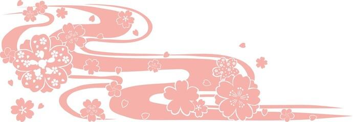 桜 模様 和柄  Japanese pattern