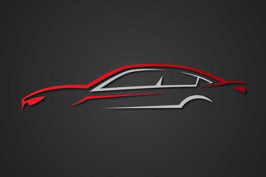 Creative elegant car sport emblems vector element