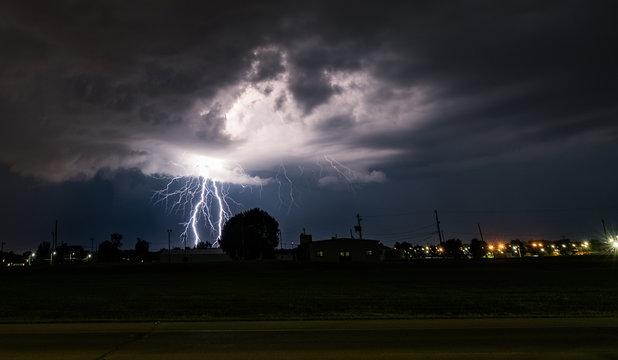 lightning silhouette