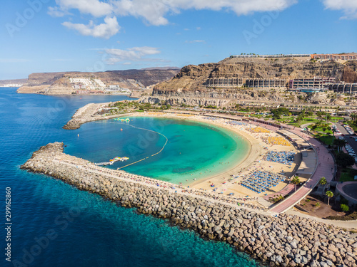 Wall mural Landscape with Amadores beach on Gran Canaria, Spain