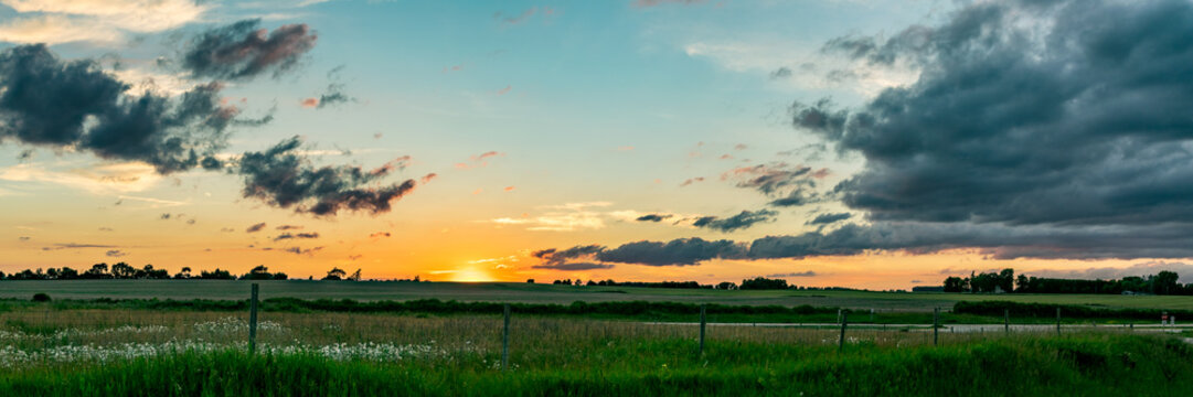 Midwest Sunset Panoramic