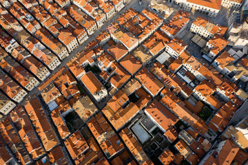 Aerial view from the city of Dubrovnik