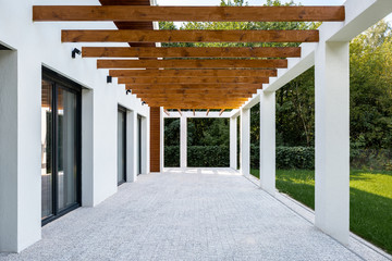 Elegant home patio and backyard