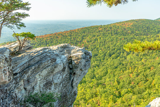 View from peak of Hanging Rock State Park , North Carolina , USA