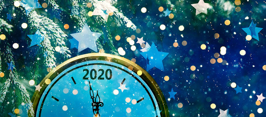 Wide Angle Holiday background New Year 2020