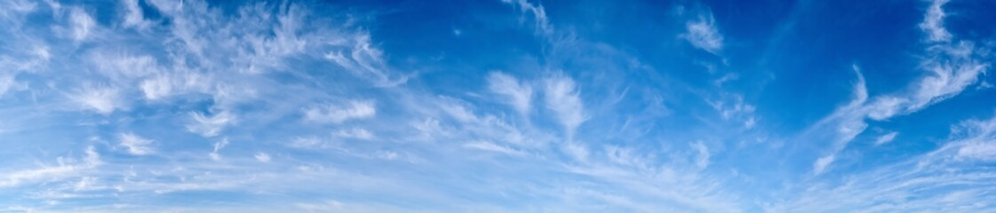 Panorama of a blue sky with white clouds as a backround Fototapete