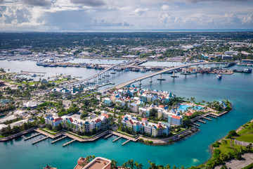 Aerial of Bahamas Nassau Wall mural