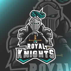 Spartan Warrior Knights Logo Mascot Vector Illustration