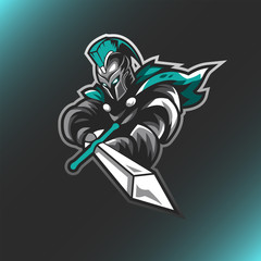 Spartan Knights Logo Gaming Vector Illustration