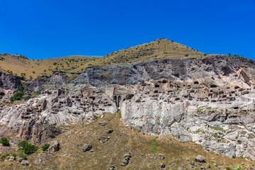 Fotomurales - cave monastery of Vardzia landmark of Samtskhe Javakheti region Georgia eastern Europe