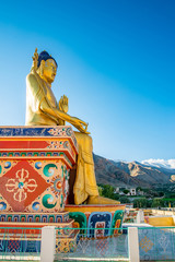 Detail of Liker Gompa Monastery, in the Himalyan foothills in Leh - Ladakh northern of India
