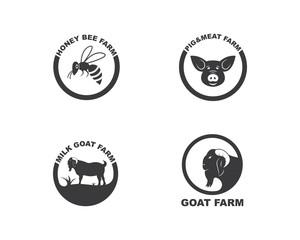 animal farm  logo vector icon