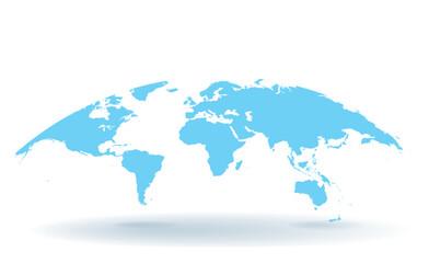 Spoed Foto op Canvas Wereldkaart 世界地図 高画質ベクター