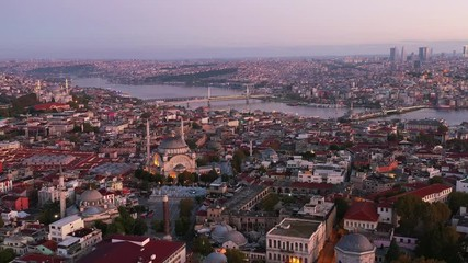 Wall Mural - Aerial view of Istanbul city in Turkey.