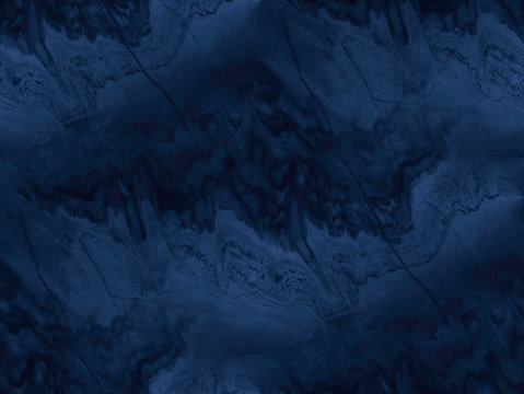 Navy blue marble texture - seamless background.