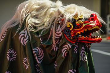 躍動感のある獅子舞のイメージ