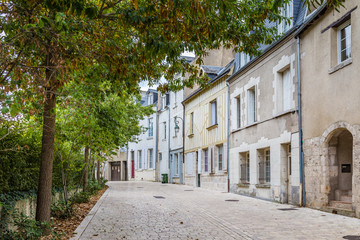 Traditional timber hosues in the cengter of Orleans in France, Europe