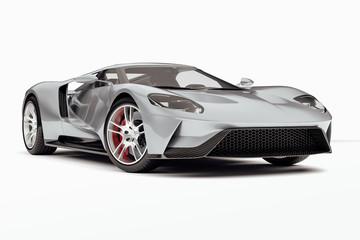 3d render of beautiful exotic super car