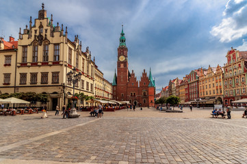 Printed kitchen splashbacks Eastern Europe Market square of Wroclaw - Poland