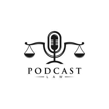 Podcast law logo design for podcast