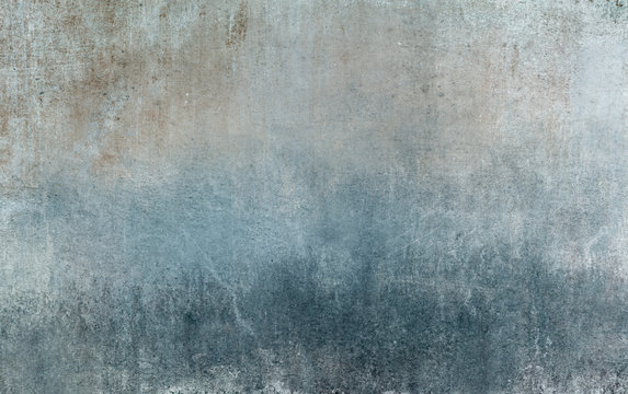 Old distressed blue grungy wall background