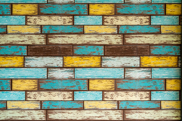 Colorful brick pattern wall paper background