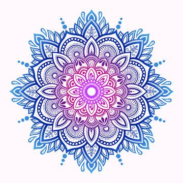 vector illustration of hand drawn mandala