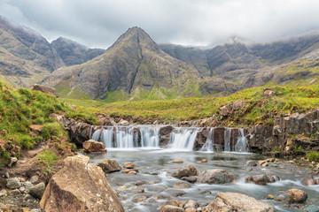 Fairy Pools waterfall on Isle of Skye, Scotland