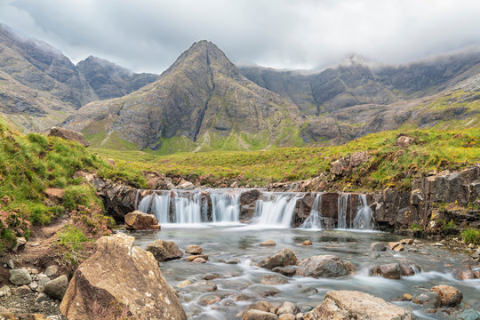 Fairy Pools waterfall on Isle of Skye, Scotland