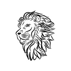 Fototapeta Wild Lion Vector Icon Logo Template