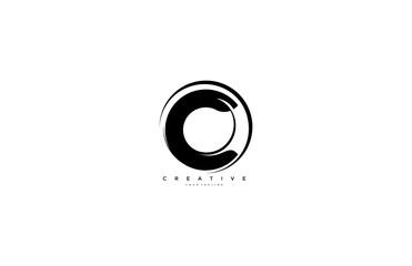 Initial Letter C Rounded Shape Wavy Stylish Modern Logo