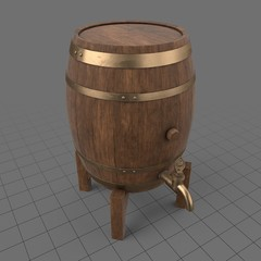 Beer barrel with tap 1