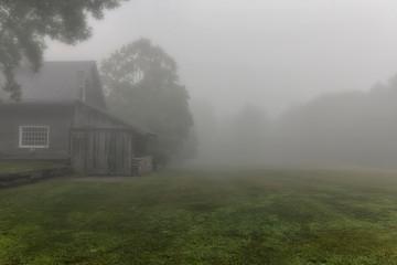 Wall Murals UFO Morning Fog on the Farm