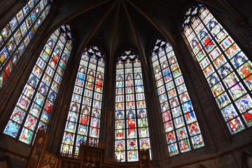 Vitraux de l'église Saint-Jacques à Tournai, Belgique