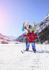 active winter holiday with child